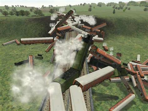 Microsoft Train Simulator High Speed Train Crashing