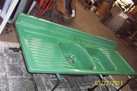 real porcelain enamel coating  restore  drainboard sink tub  stove