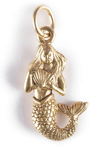 mermaid charm gold  silver girl intuitive