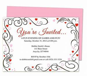 generic invitations amour any occasion invitation With wedding invitation templates for openoffice