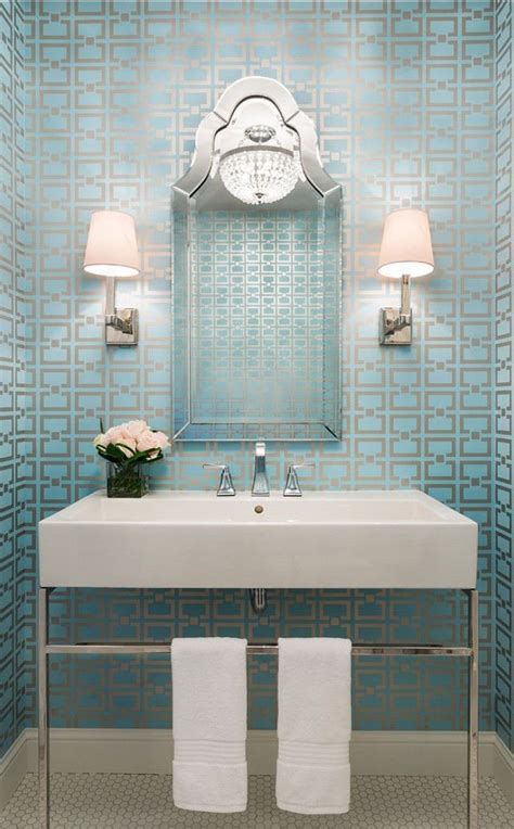wallpaper for powder room powder room wallpaper inspiration fashionable hostess
