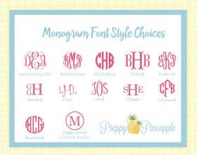 Monogram Font Styles Names