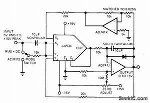 Rms To Dc - Basic Circuit - Circuit Diagram