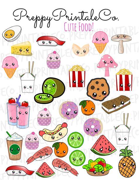 cuisine kawaii kawaii food stickers printable pdf for