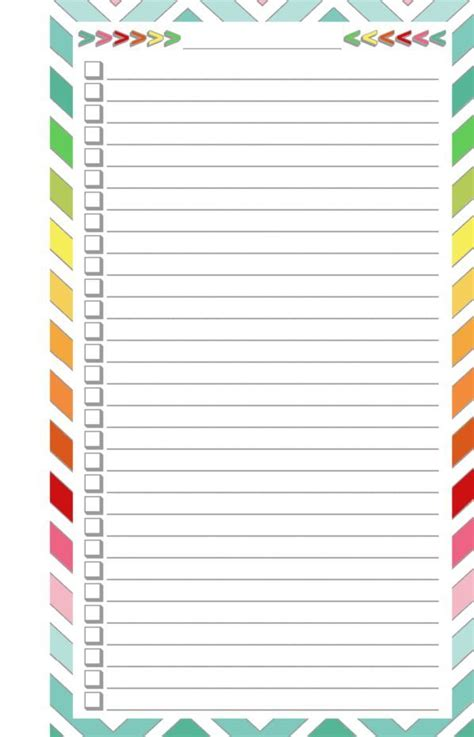 printable blank checklist  printables organization