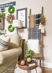 Rustic, Decorative, Ladder, The, Creative, Corner, 84, Diy, Craft, U0026, Home, Decor, Link, Party