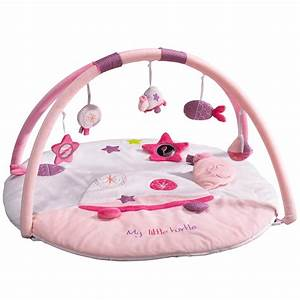 tess tapis d39eveil rose de sauthon baby deco tapis d With tapis chambre bébé avec bouquet livré