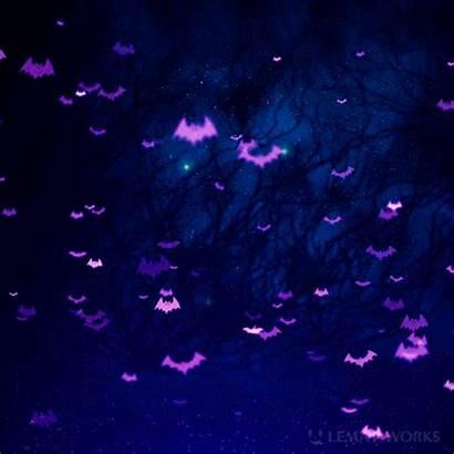 Purple Halloween Bats Aesthetic Backgrounds Night Pumpkin