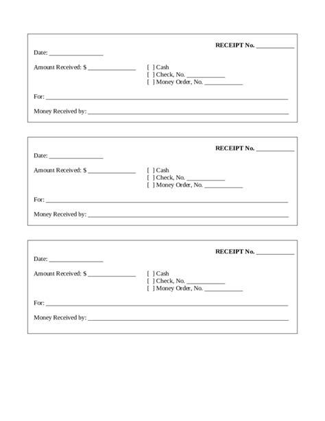 printable receipt template free receipt template blank word pdf