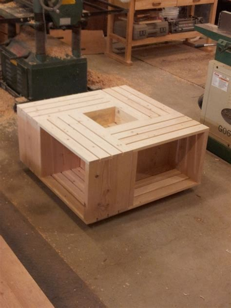 ana white wood crate coffee table diy projects