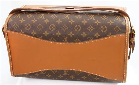 louis vuitton vintage train case monogram canvas carry  vanity bag luggage   stdibs