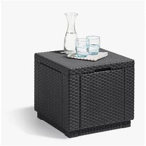 Table De Jardin Tressé : allibert jardin table cube imitation rotin tress avec ~ Dailycaller-alerts.com Idées de Décoration