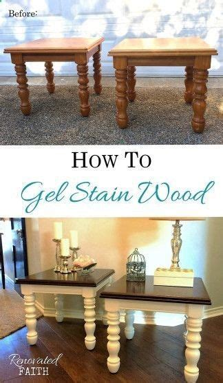 gel stain      painted surface wood