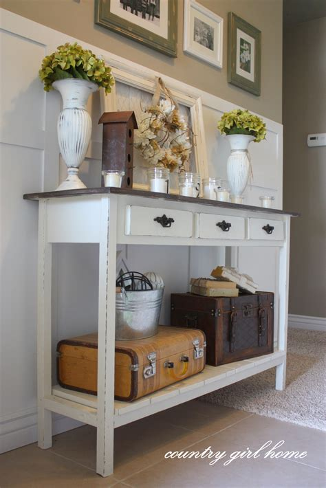 Entryway Table by Country Home Added Onto My Diy Entry Table