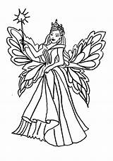 Coloring Fairy Queen Pages Cupcake Realistic Ballerina Faerie Colouring Printable Getcolorings sketch template