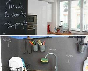 deco cuisine mur With idée décoration mur de cuisine