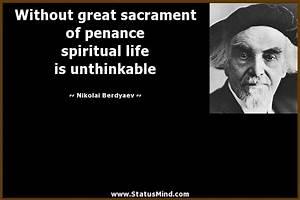 Nikolai Berdyae... Sacrament Of Penance Quotes
