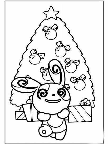 Pokemon Coloring Christmas Pages Dessin Noel Coloriage