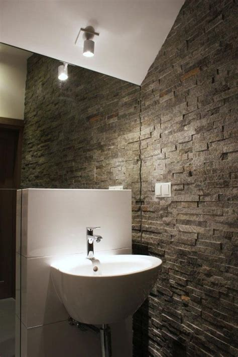 Kleines Badezimmer Fliesen Größe by Kleines Bad Einrichtung Idee Natursteinwand Fliesen