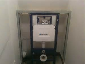 pose installation de wc cuvette suspendu installation