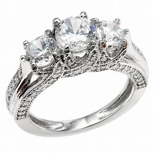 3 stone engagement rings 7 wedding promise diamond With diamond wedding rings