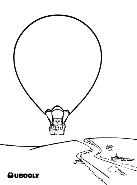 hot air balloon coloring pages printable  coloring