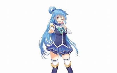 Konosuba Aqua God Blessing Wonderful Anime Background