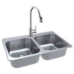 double kitchen sink with faucet stainless steel rona