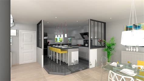 ouverture cuisine sur sejour cuisine style atelier avec verrières monblogcuisine fr