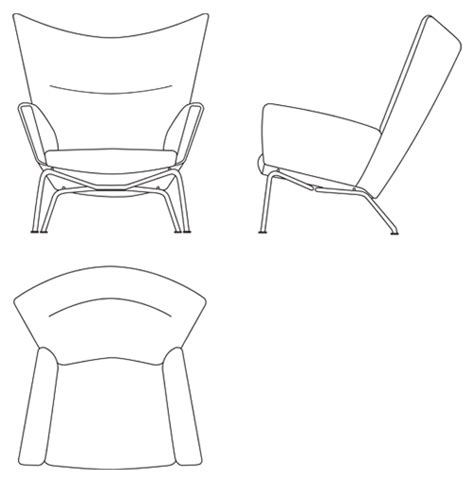 image gallery lounge chair plan view