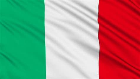 European Curtain by Italian Flag Hd Looped Stock Footage Video 1821575