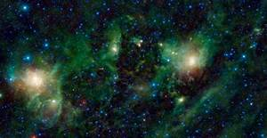 Galaxy Nebula Green - Pics about space