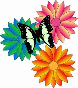 Butterfly And Flowers Clip Art at Clker.com - vector clip ...