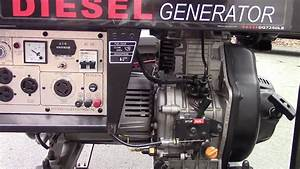 Etq Dg7250le Diesel Generator Startup  And An Extra