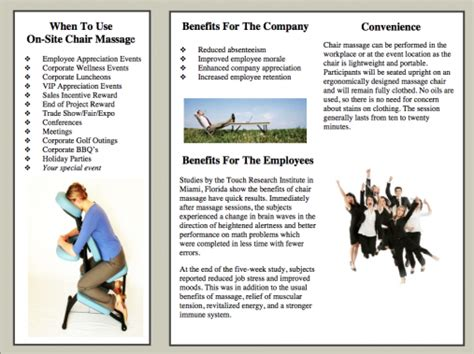 massage therapy brochures click