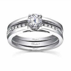 white gold diamond engagement ring set 7491sw dramatic With interlocking wedding ring sets