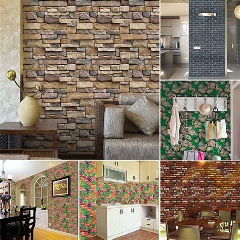 wall paper brick stone rustic effect  adhesive wall