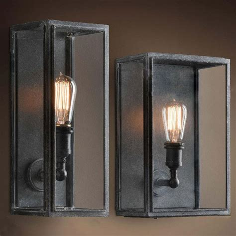 loft light box wall sconce 9816 shipping to all the world browse project lighting and modern