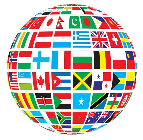 World Globe Images Globe Of World Flags Transparent Png Stickpng