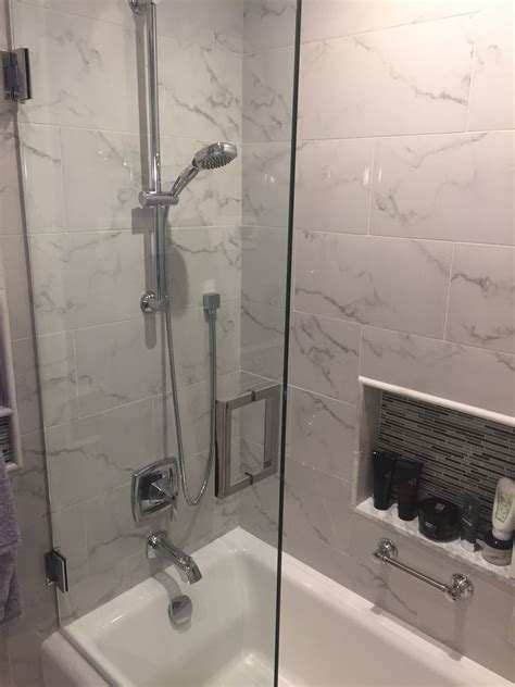kennewick wa bathroom remodel porcelain carrera marble