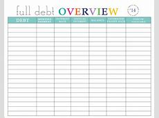 12+ credit card debt payoff spreadsheet Excel