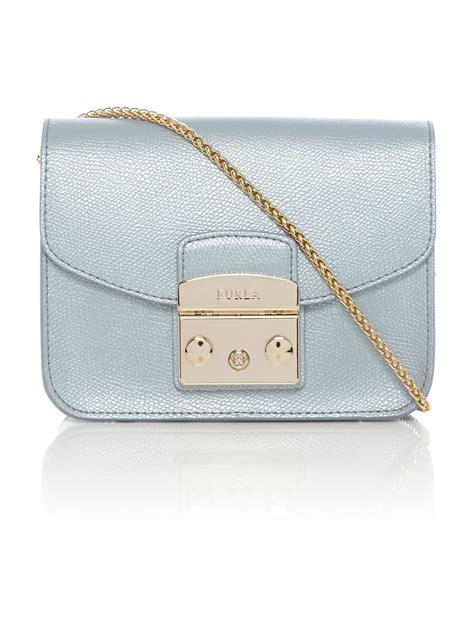 light blue crossbody bag furla metropolis light blue mini cross bag in