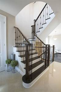 Stairs With Wrought Iron Pickets Are Classic