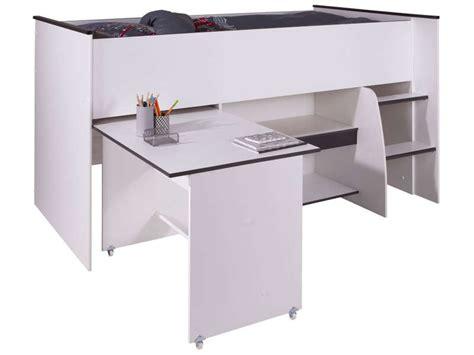 lit combiné bureau conforama lit surélevé combiné moby coloris blanc et vente de