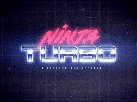 80 s text effects for photoshop on behance