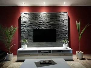 Wohnzimmer Tv Wand Ideen : wohnzimmerwand selbst gestalten ~ Orissabook.com Haus und Dekorationen