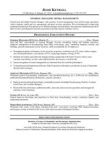 sle of resume for housekeeping esempio cv inglese hotel manager cv inglese