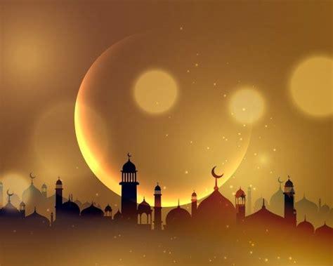 background bulan ramadhan spanduk latar belakang kartu