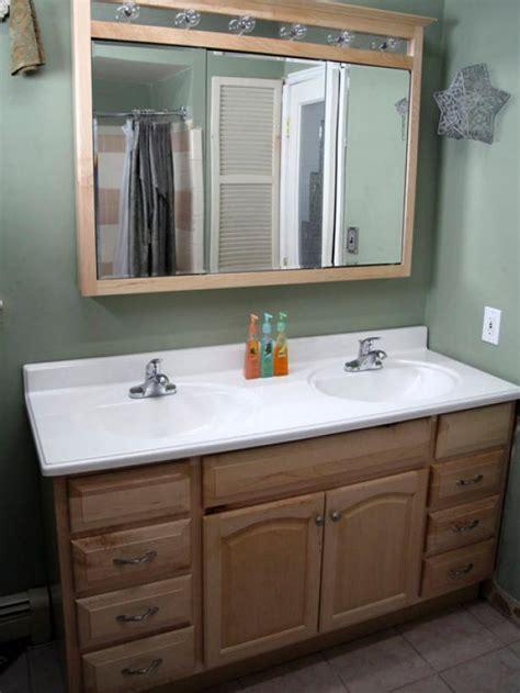 how to install bathroom cabinets and vanities installing a bathroom vanity hgtv