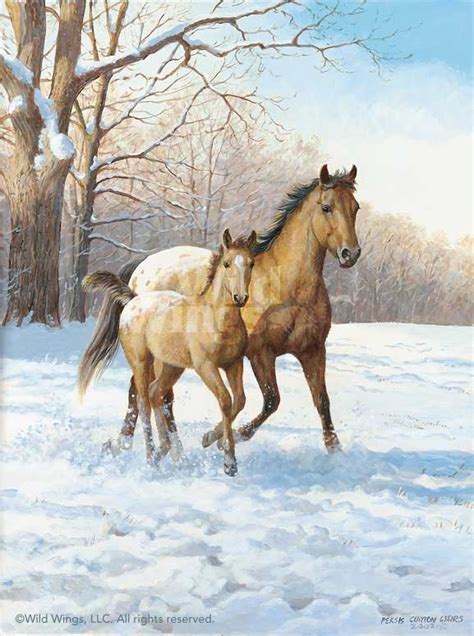 Warming Up Horses Original Acrylic Painting Wild Wings